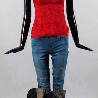Mary Elizabeth Winstead Screen-Worn Shirt, Pants, Earrings & Shoes