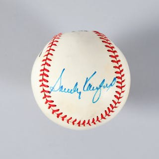 Sandy Koufax Signed Baseball Dodgers – COA JSA