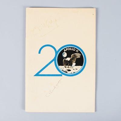 Apollo 11 Signed Program (6) Neil Armstrong, Buzz Aldrin, etc. – COA JSA
