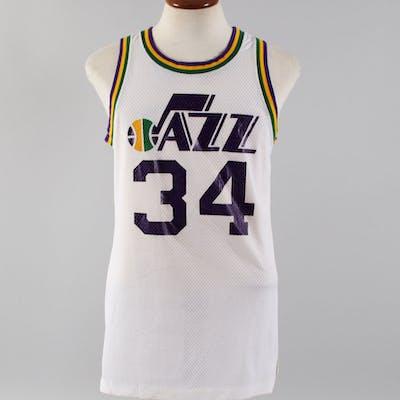 Utah Jazz #34 Game-Worn Jersey