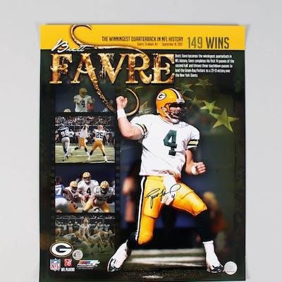 cheaper f3520 e0a40 Brett Favre Signed 16×20 Photo Packers – COA Player Hologram ...