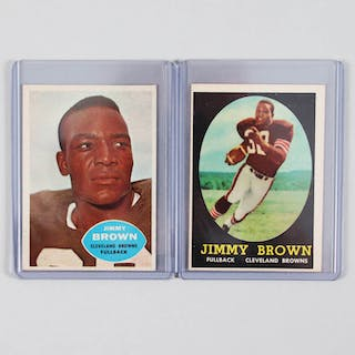 1958 Topps Jim Brown Card Rookie RC #62 and 1960 Topps #23