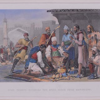 École européenne - Sikh troops dividing the spoil taken from mutineers - 1868