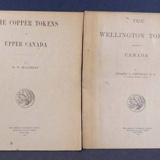Two Matching ANA Editions on Canadian Tokens - McLachlan and Courteau 1915-6