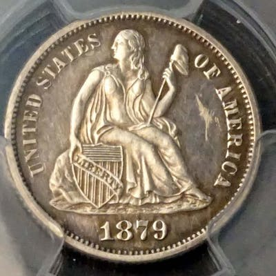 USA - Liberty Seated Dime 1879 Certified PCGS PR61