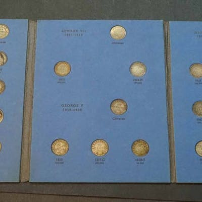Collection of Newfoundland 10c in Whitman Folder. Missing only 1870.