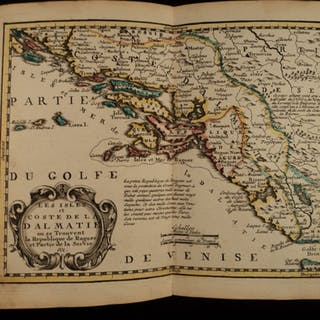 1749 Color Copper MAP Dalmatia Croatia Adriatic Sea Albania Atlas 22cm x 18cm