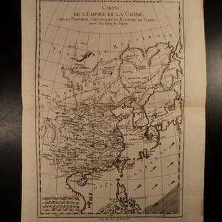 1780 Copper MAP Empire of CHINA Asia Japan Orient Chinese Tartary