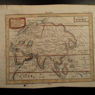 1749 Color Copper MAP of ASIA China Korea Japan Siam Persia India 23cm X 19cm