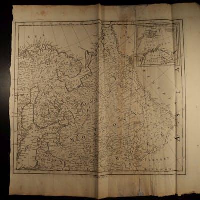 1774 HUGE MAP of Eastern Europe RUSSIA Moscow Scandinavia Tartary ATLAS