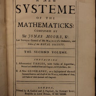 1681 1st ed New System of Mathematics by Sir Jonas Moore Arithmetic