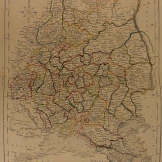 1861 Color Steel Map European RUSSIA Ukraine Poland Crimea Belarus 41cm X 32cm