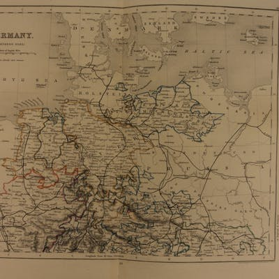 1861 Color Steel Map Northern GERMANY Prussia Hanover Saxony 41cm X 32cm