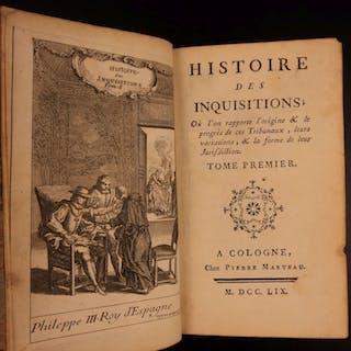 1759 History of Spanish Inquisition Catholic Spain InquisiciГіn