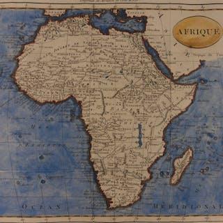 1807 Color Copper Map AFRICA Egypt Sahara Ethiopia Morocco Tripoli Hottentot