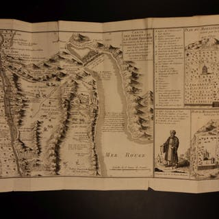 1810 Jesuit Missionary VOYAGES Indies Turks Persia Cairo Travels MAPS Holy Land