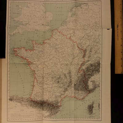 1877 Voyages & Geography FRANCE Elisee Reclus French 300 Color MAPS Illustrated