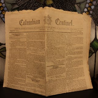 1794 Columbian Centinel Boston Newspaper George Washington Americana Woodcuts