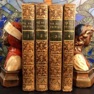 1753 Art of Famous Painters Flemish German Dutch Descamps 4v SET Old Masters