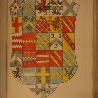 1793 1st ed Heraldry in England Illustrated Arms Hand-Colored St Albans
