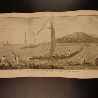 1780 Voyages POLYNESIA Captain Cook Islands Tahiti Pacific Ocean Patagonia