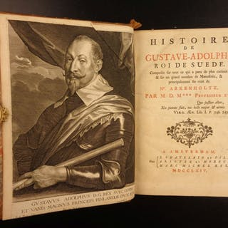 1764 Gustav II Adolphus SWEDEN Thirty Years War Military NAPOLEON Provenance