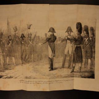1820 Napoleon Bonaparte Napoleonic Wars Waterloo French 2v SET Military France