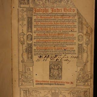 1519 JOSEPHUS Jewish WAR History Judaism Judaica Antiquities Jews Bible Hebrew