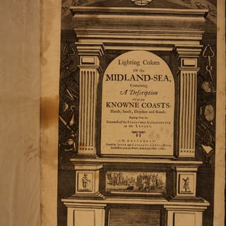 1680 1st Lighting Colom of Midland-Sea Ocean Navigation Voyages Illustrated