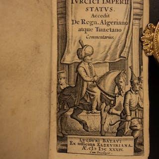 1634 Byzantine Ottoman Turkey CONSTANTINOPLE Tunisia ELZEVIER 2in1