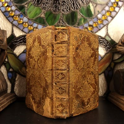 1647 Charenton French HUGUENOT BIBLE + Psalms Des-Hayes Music Gold-Leaf BINDING