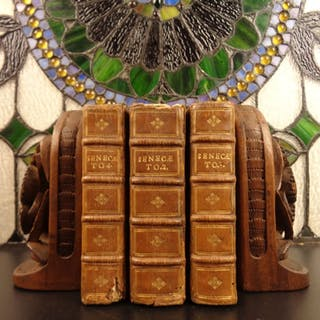 1639 Works of Seneca Rhetoric Stoicism Philosophy Lipsius ROME Elzevier 3v SET