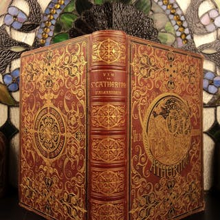 1881 Life of Saint Catherine of Alexandria Color Illustrated Martyr