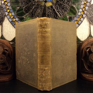 1852 1st ed Lives of Winfield Scott & Andrew Jackson Americana WAR Politics