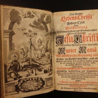 1692 1st Martin Cochem Life of Jesus Christ German Capuchin HUGE JERUSALEM MAP
