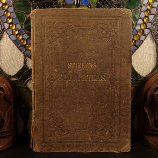 1886 Adolf Stieler German ATLAS 32 Maps Cartography World Geography Schul-atlas