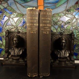 1856 1ed Harriet Beecher Stowe DRED Dismal Swamp Anti Slavery Abolitionist 2v