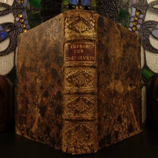 1582 1st ed Le Rime del Petrarca Petrarch BASIL Italian Castelvetro Commentary