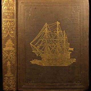 1839 1ed Tales of Shipwrecks Sea Disasters Captain Falconer Illustrated Pirates