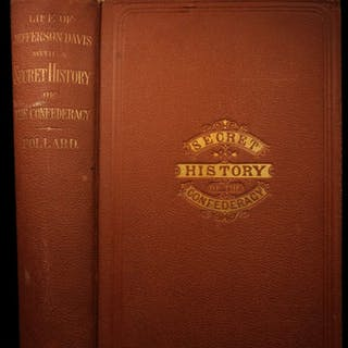 1869 1ed Life of Jefferson Davis SECRETS Civil War Slavery Confederate
