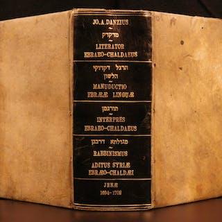 1696 Johann Andreas DANZ Jewish Hebrew Grammar Language Judaica E