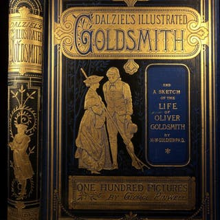 1880 Life & Works of Oliver Goldsmith Vicar of Wakefield English PLAYS Theatre