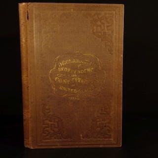 1858 Declaration of Independence & Constitution 12 Amendments pre-Civil War era