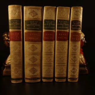 1860 1ed Lives of Archbishops of Canterbury Middle Ages Crusades VELLUM BINDING