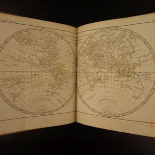 1780 1ed Famous Rigobert Bonne ATLAS MAPS Double-Page EXQUISITE Copper Folding
