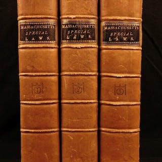 1805 1st ed Laws of Massachusetts Americana Boston Native American Regulations
