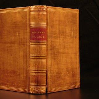 1584 Andrea Alciati EMBLEMS Emblematica Herbal Medicine Ships Mythology