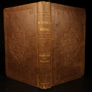 1856 Confessions of an English Opium-Eater de Quincey Alcohol & Drug Addiction