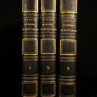 1844 Essays of Michel de Montaigne Renaissance Philosophy French Essais Lefevre