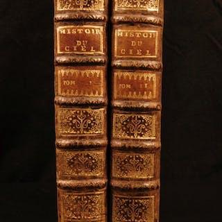 1739 1st ed Pluche Astronomy Astrology Cosmogony Occult Egyptian Mythology